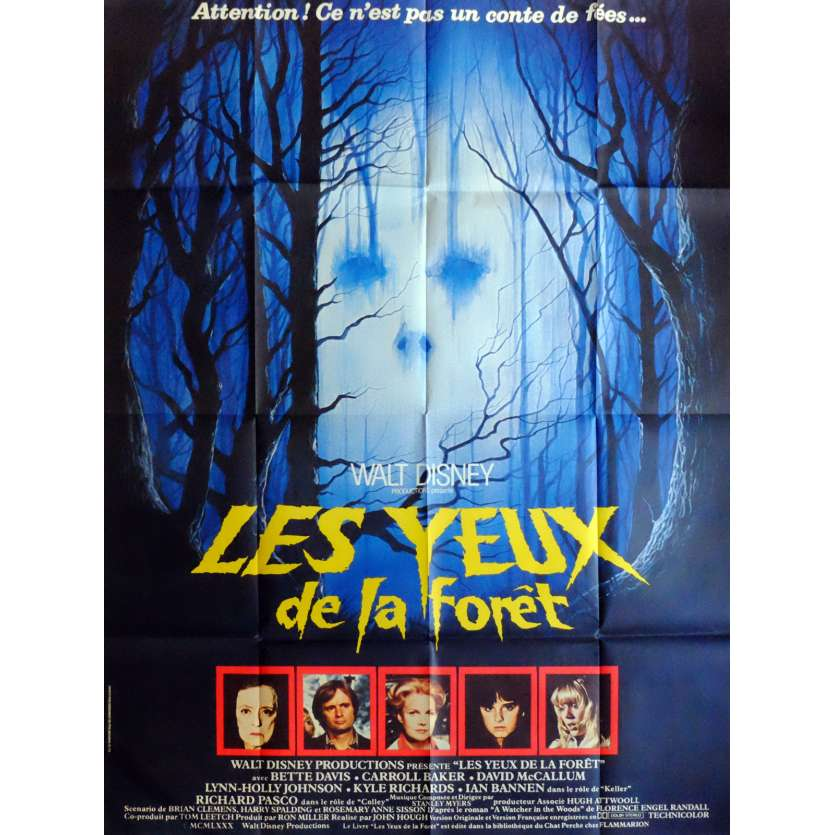 THE WATCHER IN THE WOODS Movie Poster 47x63 in. French - 1980 - John Hough, Bette Davis