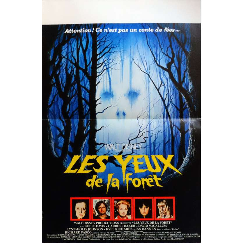 THE WATCHER IN THE WOODS Movie Poster 15x21 in. French - 1980 - John Hough, Bette Davis