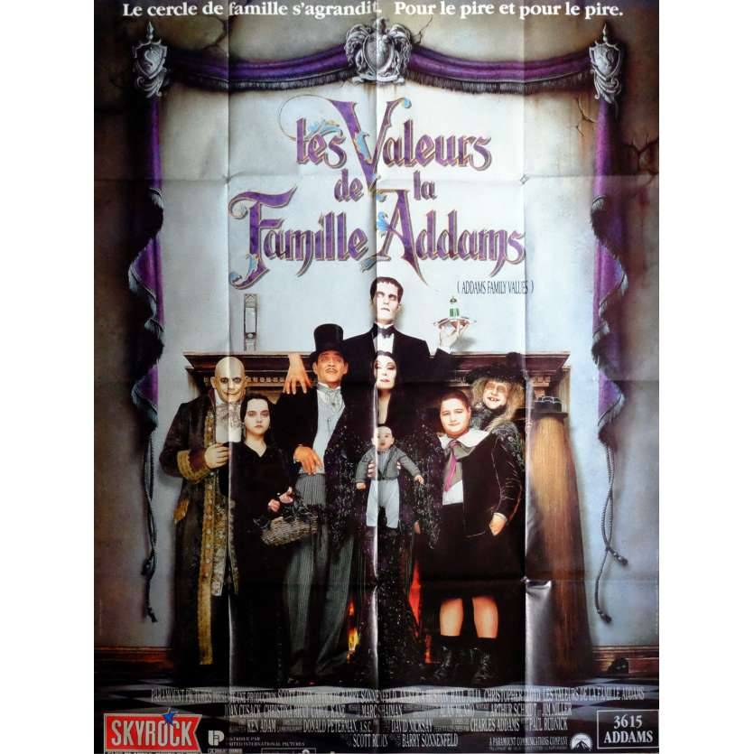 ADDAMS FAMILY VALUES Movie Poster 47x63 in. French - 1991 - Barry Sonnefeld, Christina Ricci