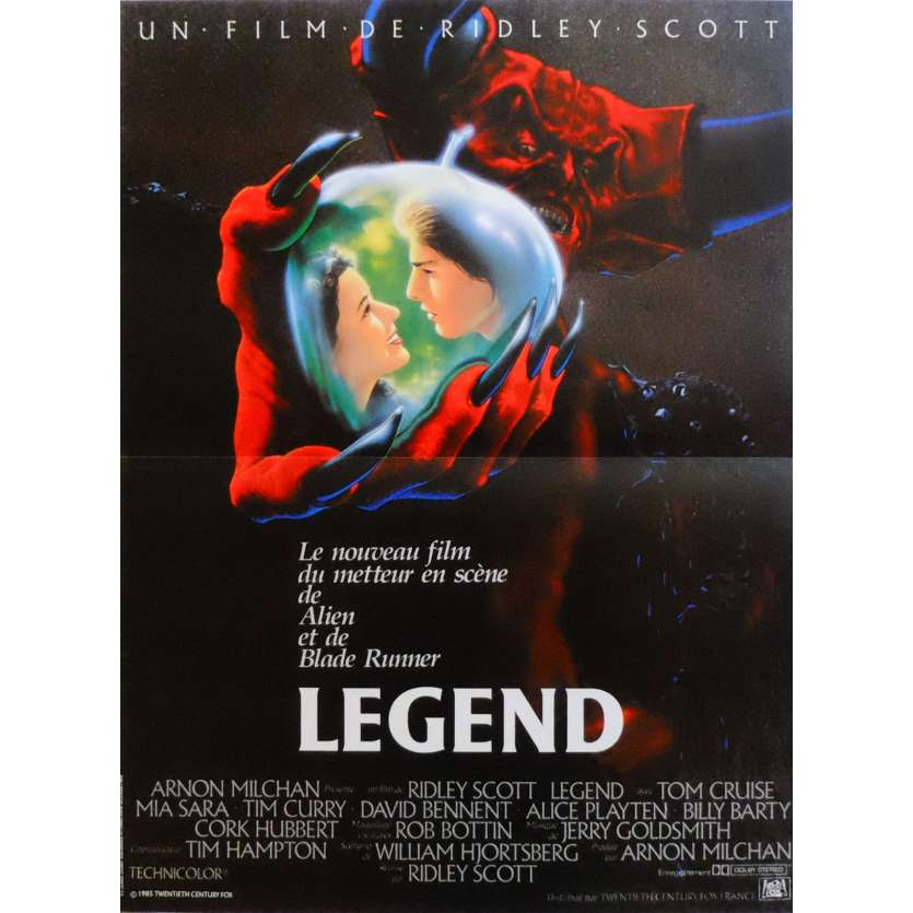 LEGEND Affiche de film 40x60 cm - 1986 - Tom Cruise, Ridley Scott