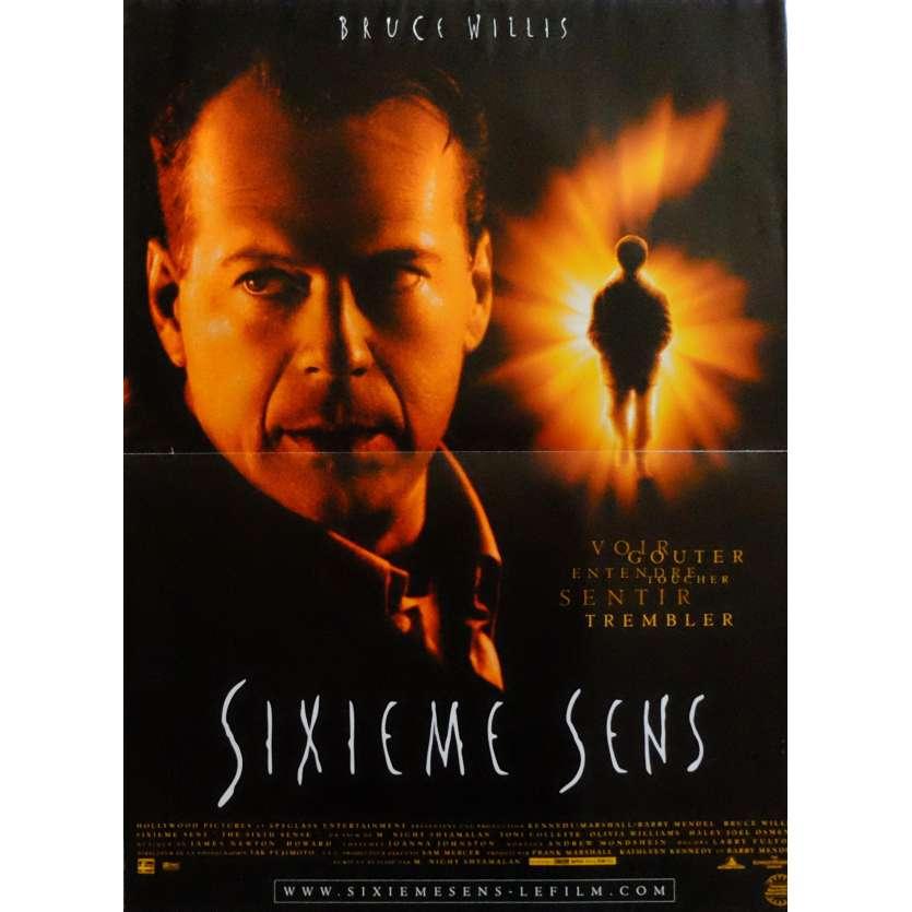 LE SIXIEME SENS Affiche de film 40x60 cm - 1999 - Bruce Willis, M. Night Shyamalan