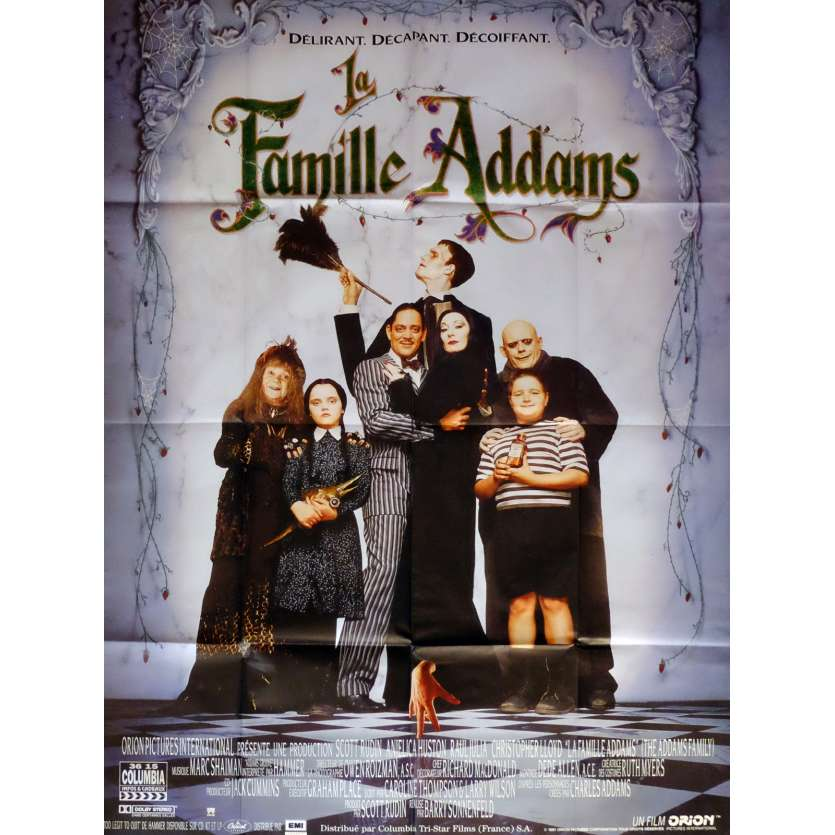 ADDAMS FAMILY Movie Poster 47x63 in. French - 1991 - Barry Sonnenfeld, Raul Julia