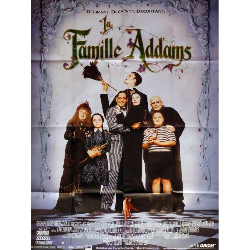 LA FAMILLE ADDAMS Affiche de film 120x160 cm - 1991 - Raul Julia, Barry Sonnenfeld