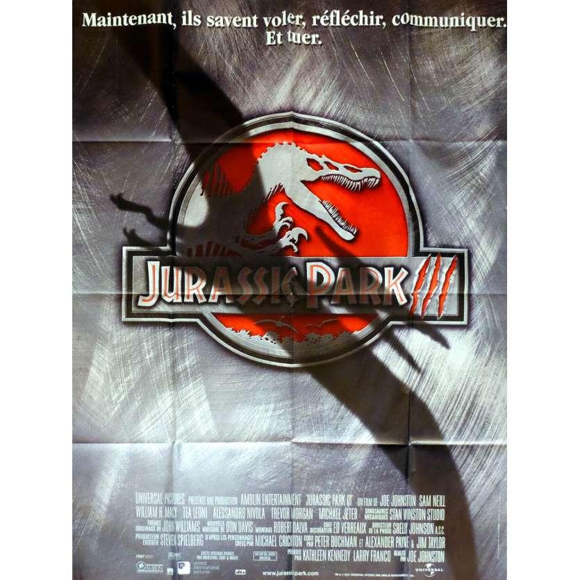 JURASSIC PARK III Movie Poster 47x63 in  French - 2001 - Steven Spielberg,  Sam Neil