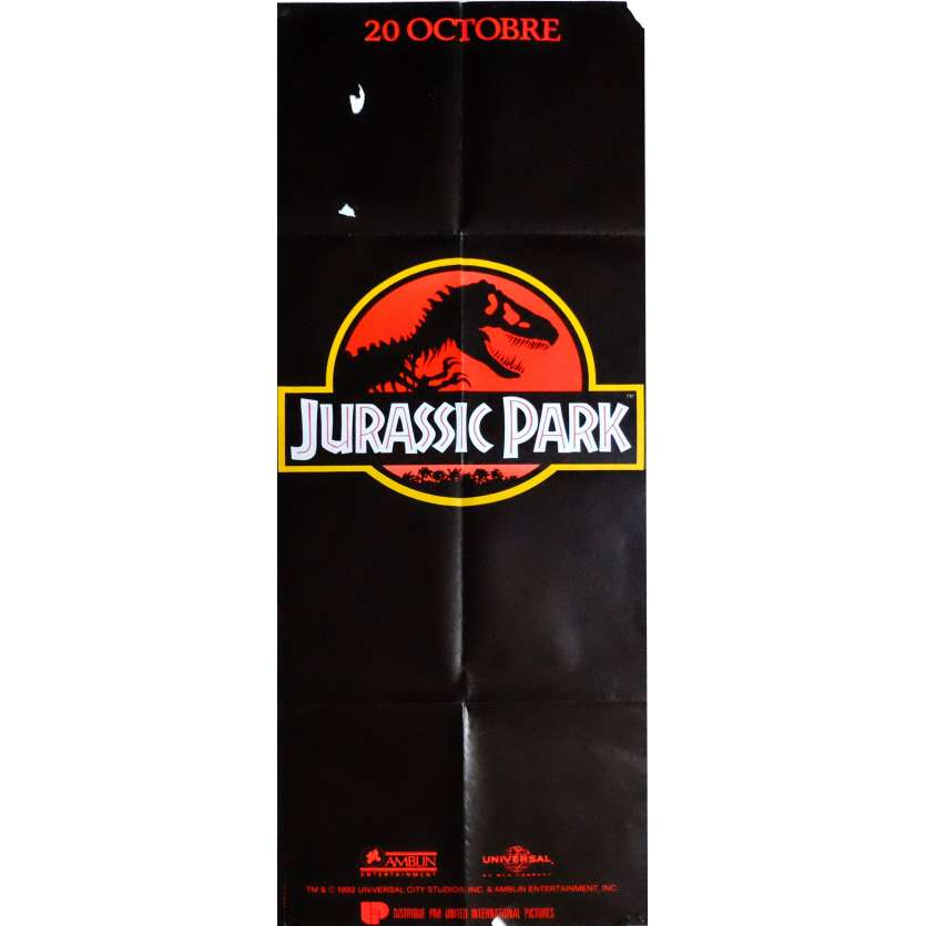 JURASSIC PARK Movie Poster 23x63 in. French - 1993 - Steven Spielberg, Sam Neil