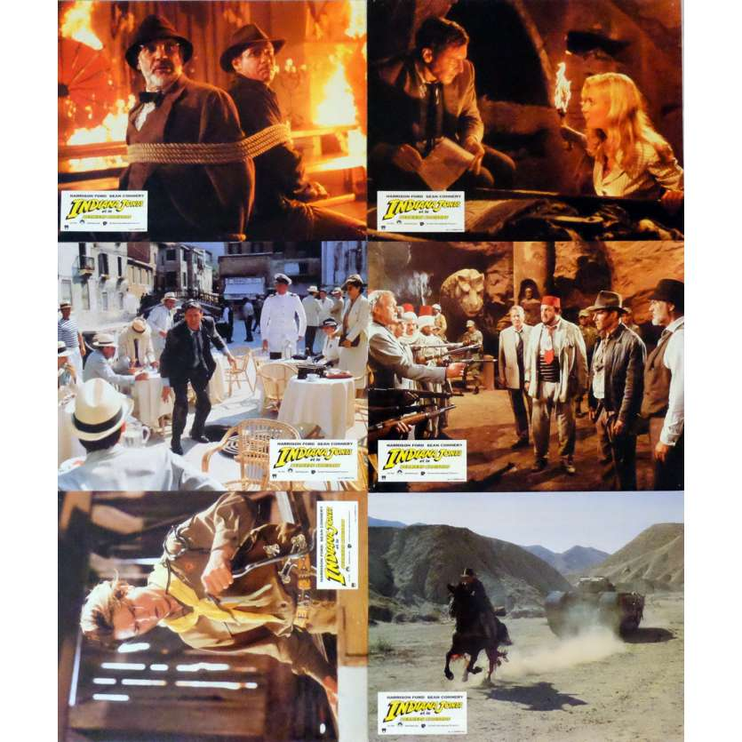 INDIANA JONES AND THE LAST CRUSADE Lobby Cards Set B - x6 9x12 in. French - 1989 - Steven Spielberg, Harrison Ford