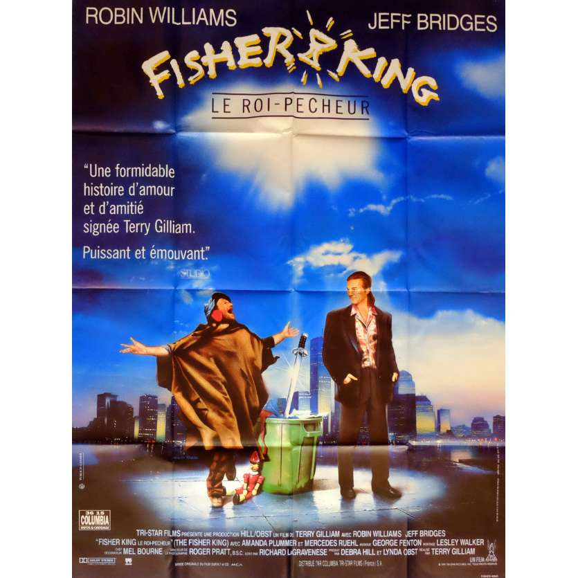 FISHER KING Movie Poster 47x63 in. French - 1991 - Terry Gilliam, Jeff Bridges
