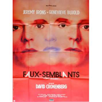 DEAD RINGERS Movie Poster 47x63 in. French - 1988 - David Cronenberg, Jeremy Irons
