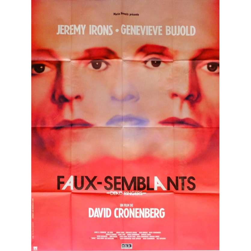 FAUX SEMBLANTS Affiche de film 120x160 cm - 1988 - Jeremy Irons, David Cronenberg