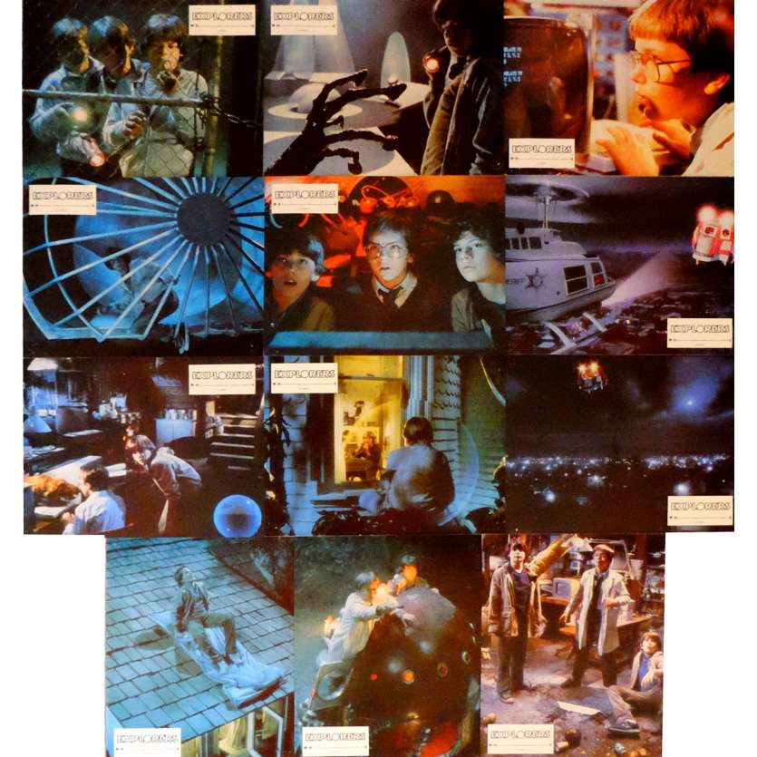 EXPLORERS Lobby Cards x11 9x12 in. French - 1985 - Joe Dante, Ethan Hawke