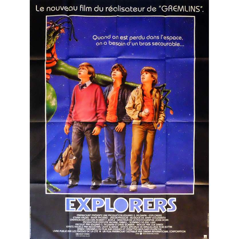 EXPLORERS Movie Poster 47x63 in. French - 1985 - Joe Dante, Ethan Hawke