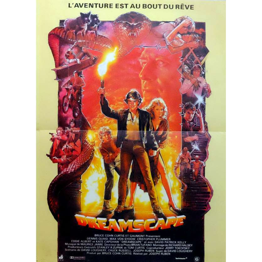 DREAMSCAPE Movie Poster 15x21 in. French - 1984 - Joseph Ruben, Dennis Quaid