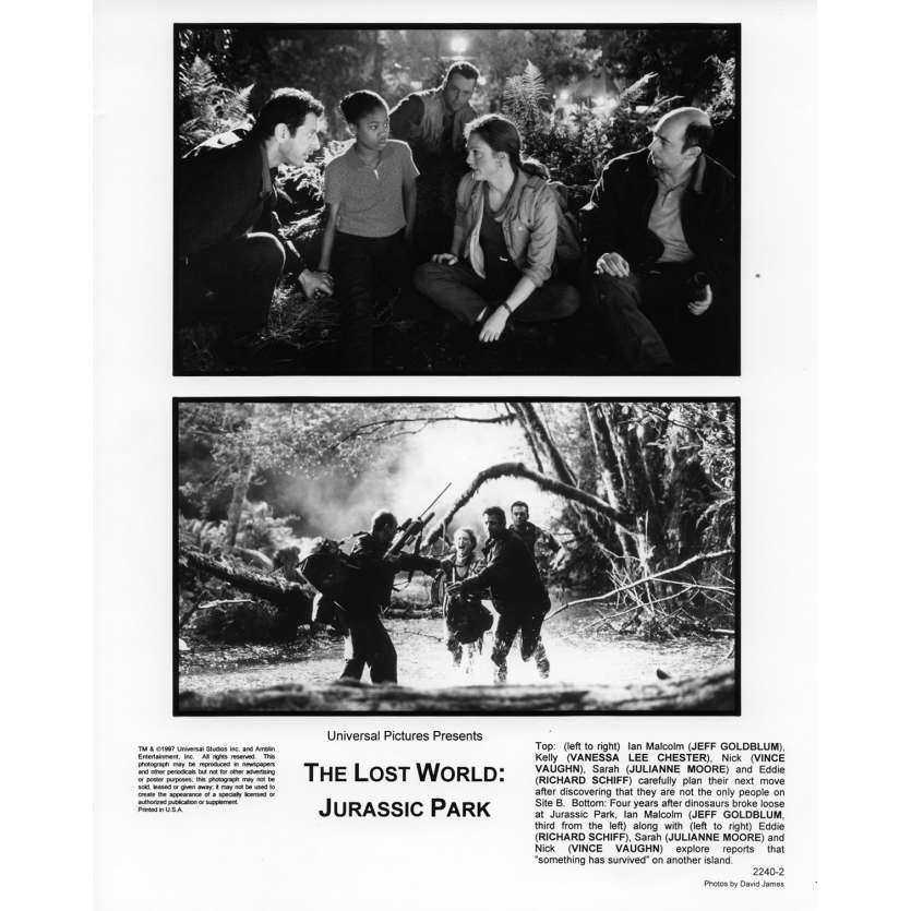 JURASSIC PARK 2 THE LOST WORLD Movie Still N6 8x10 in. USA - 1997 - Steven Spielberg, Jeff Goldblum