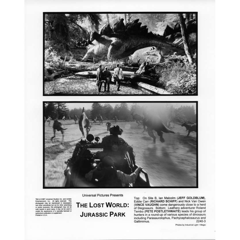 JURASSIC PARK 2 THE LOST WORLD Movie Still N3 8x10 in. USA - 1997 - Steven Spielberg, Jeff Goldblum