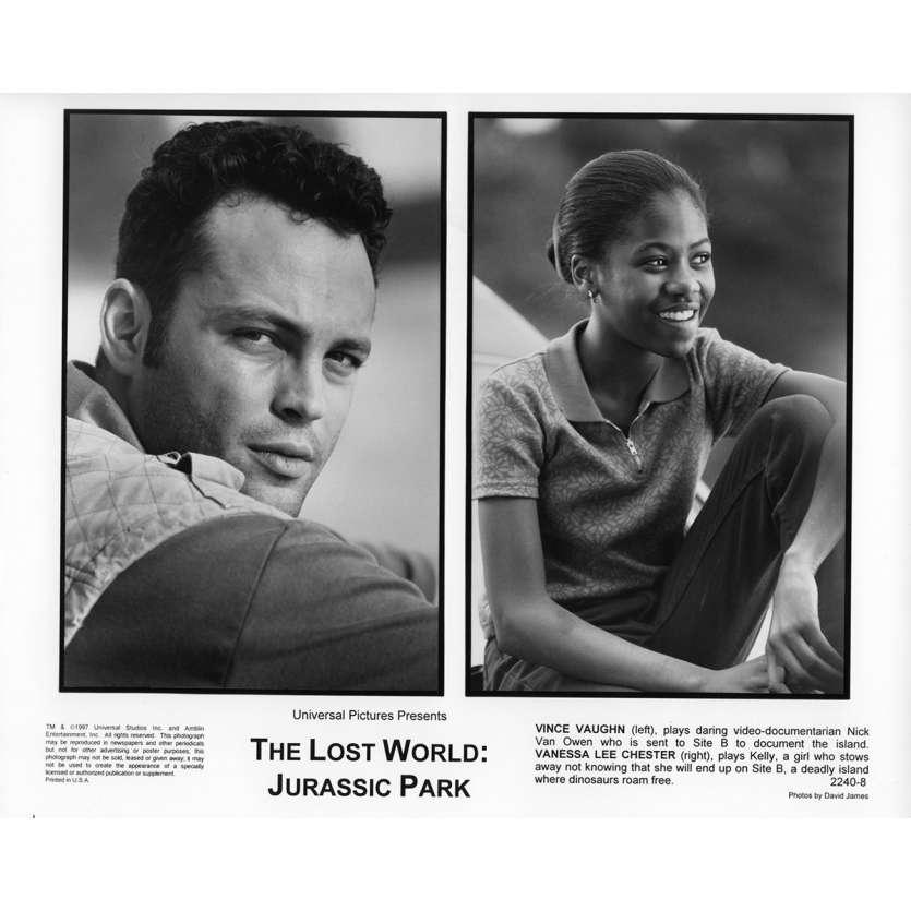 JURASSIC PARK 2 LE MONDE PERDU Photo de presse N1 20x25 cm - 1997 - Jeff Goldblum, Steven Spielberg