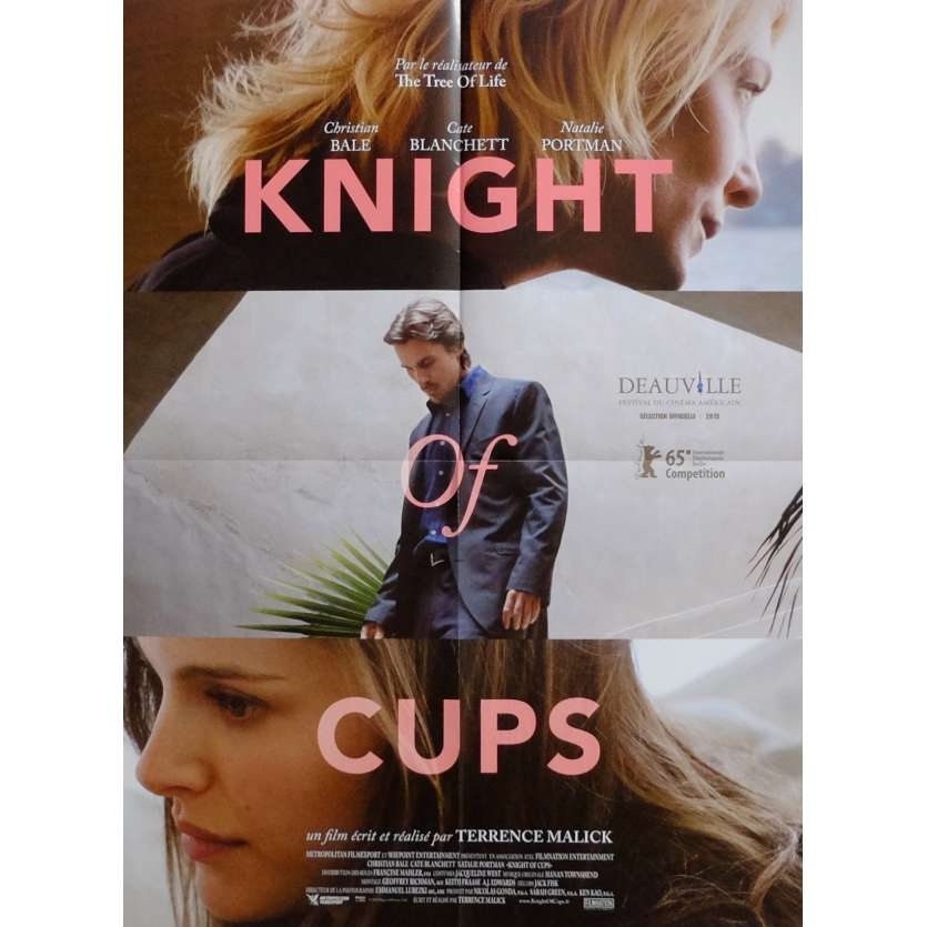 KNIGHT OF CUPS Movie Poster 15x21 in. French - 2015 - Terrence Malick, Christian Bale
