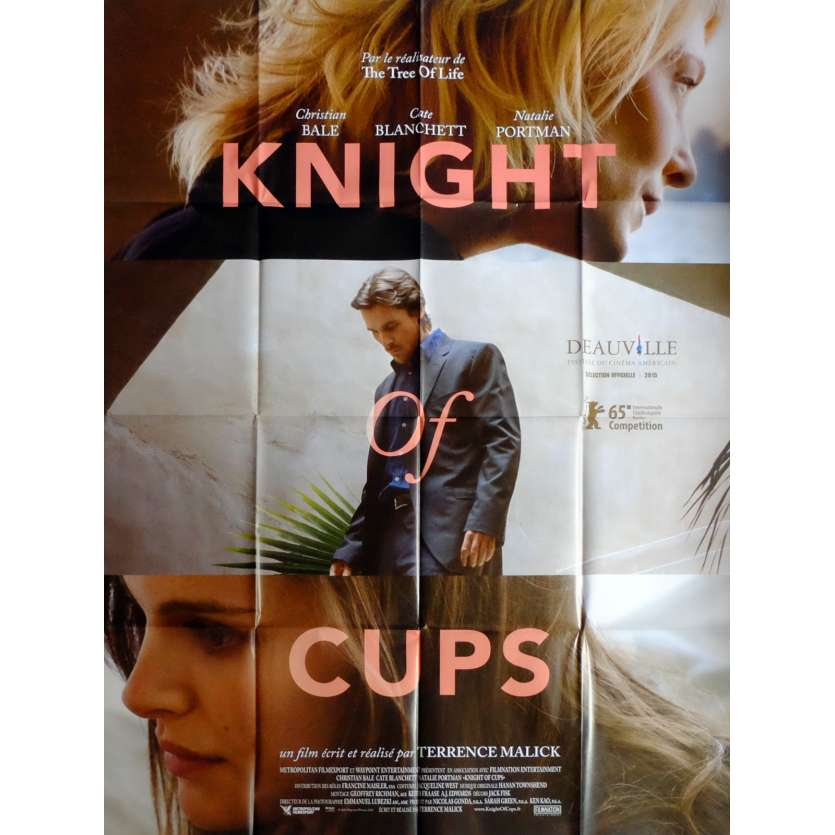 KNIGHT OF CUPS Movie Poster 47x63 in. French - 2015 - Terrence Malick, Christian Bale