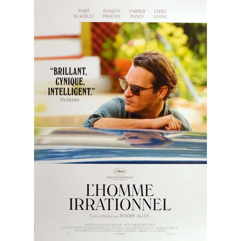 IRRATIONAL MAN Movie Poster 15x21 in. French - 2015 - Woody Allen, Joaquim Phoenix