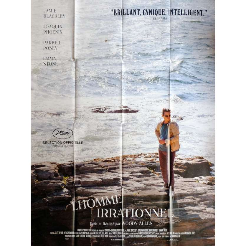 IRRATIONAL MAN Movie Poster 47x63 in. French - 2015 - Woody Allen, Joaquim Phoenix