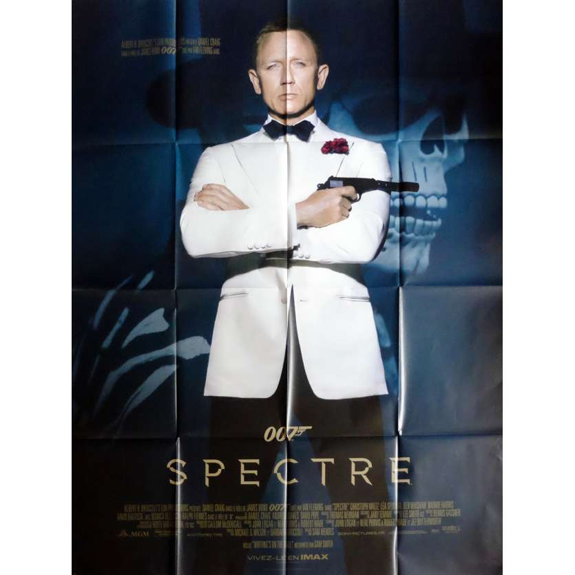 SPECTRE Movie Poster def 47x63 in. French - 2015 - Sam Mendes, Daniel Craig
