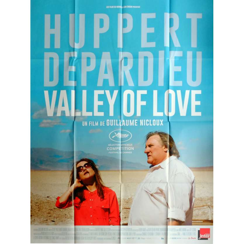 VALLEY OF LOVE Movie Poster 47x63 in. French - 2015 - Guillaume Nicloux, Gérard Depardieu