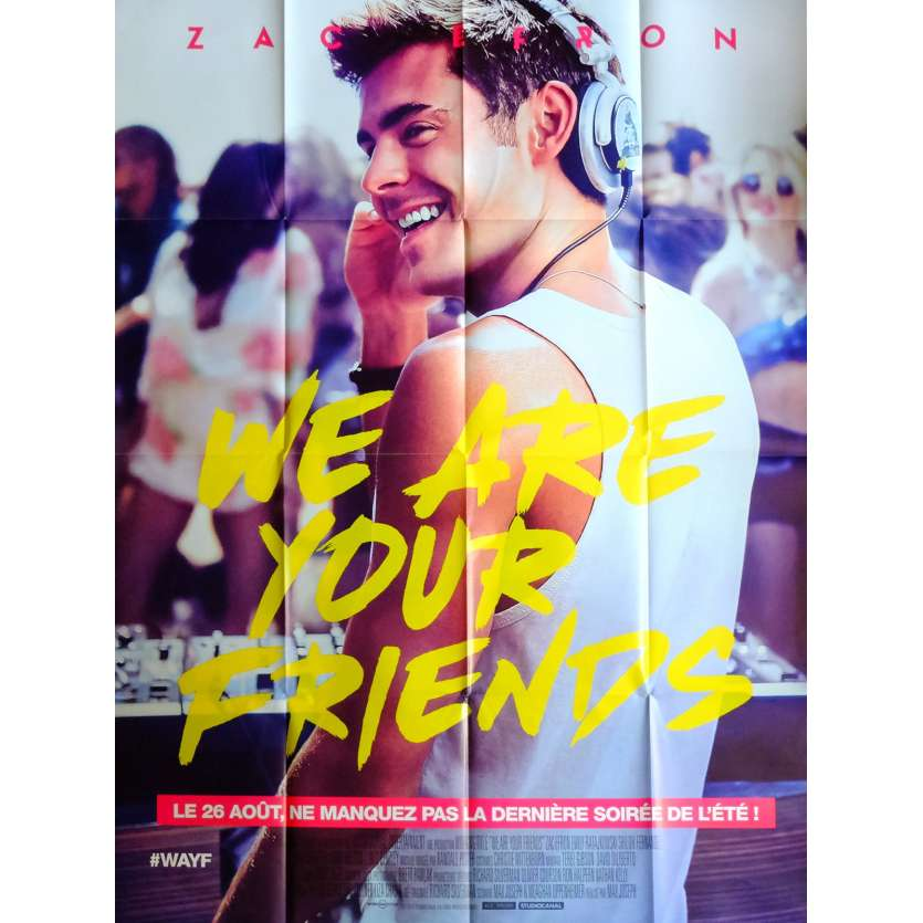 WE ARE YOUR FRIENDS Movie Poster 47x63 in. French - 2015 - Max Joseph, Zac Efron