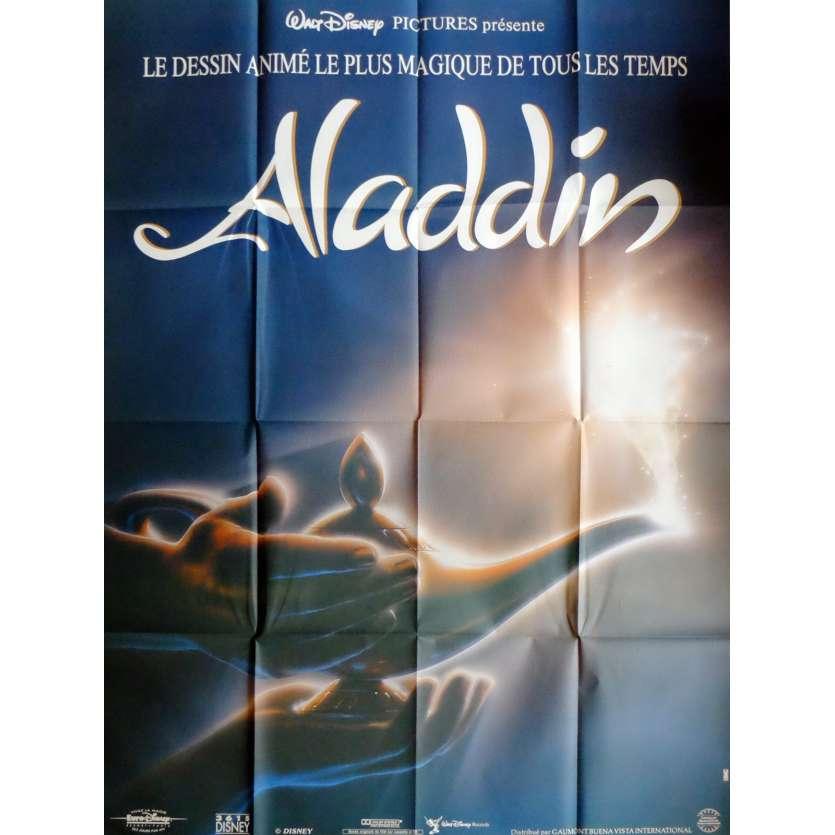 ALADDIN Movie Poster 47x63 in. French - 1992 - Walt Disney, Robin Williams