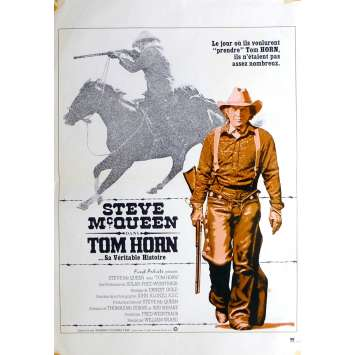 TOM HORN Movie Poster 15x21 in. French - 1980 - William Wiard, Steve McQueen