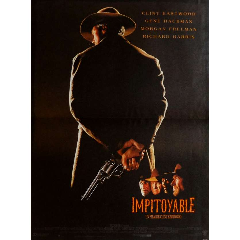UNFORGIVEN Movie Poster 15x21 in. French - 1992 - Clint Eastwood, Gene Hackman