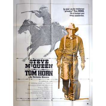 TOM HORN French Movie Poster 47x63 - 1980 - William Wiard, Steve McQueen