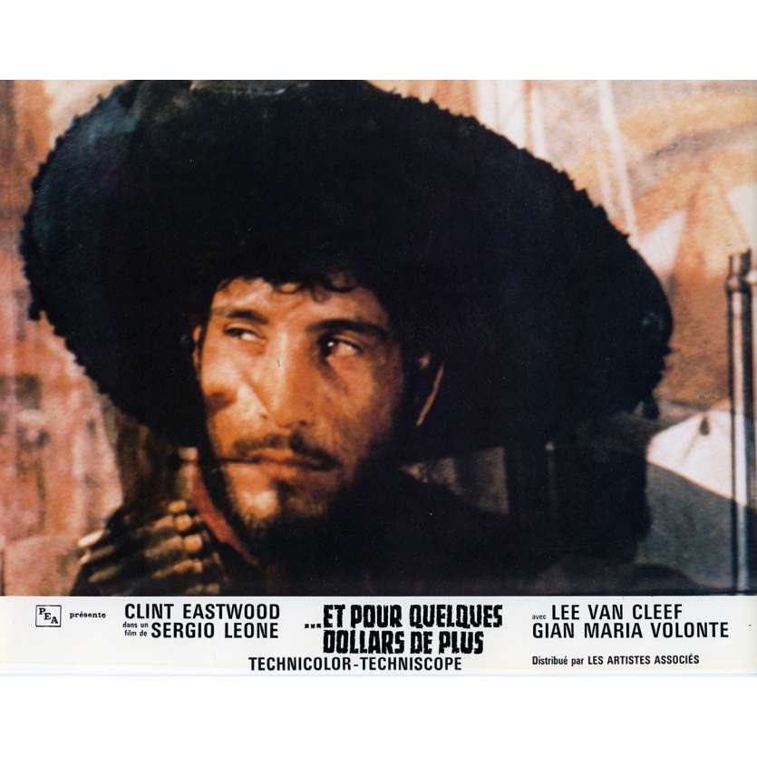FOR A FEW DOLLARS MORE Lobby Card N10 9x12 in. French - 1965 - Sergio Leone, Clint Eastwood