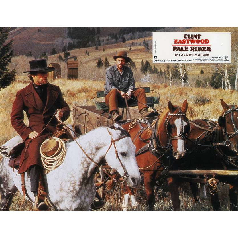 PALE RIDER Lobby Card N7 9x12 in. French - 1985 - Clint Eastwood,