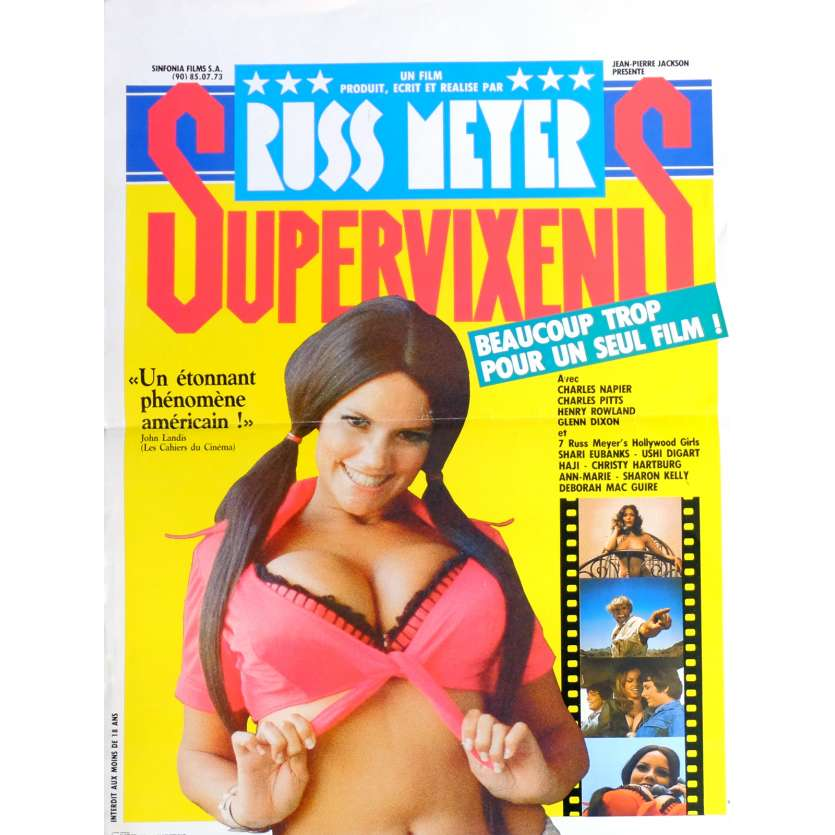 SUPERVIXENS Movie Poster 15x21 in. French - 1975 - Russ Meyer, Charles Napier