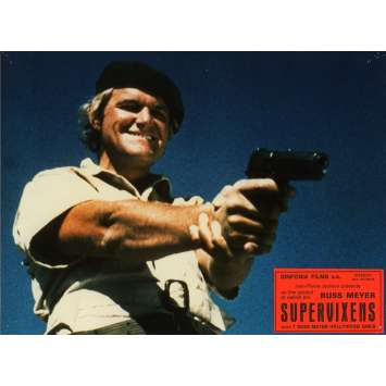 SUPERVIXENS Lobby Cards N2 7x9 in. French - 1975 - Russ Meyer, Charles Napier