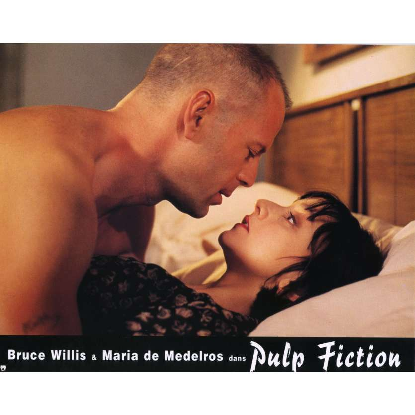 PULP FICTION Lobby Card N7 9x12 in. French - 1994 - Quentin Tarantino, Uma Thurman