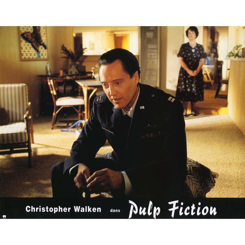 PULP FICTION Lobby Card N6 9x12 in. French - 1994 - Quentin Tarantino, Uma Thurman