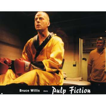 PULP FICTION Lobby Card N3 9x12 in. French - 1994 - Quentin Tarantino, Uma Thurman