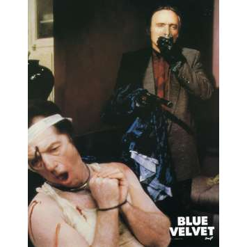BLUE VELVET Lobby Card N2 9x12 in. French - 1986 - David Lynch, Isabella Rosselini