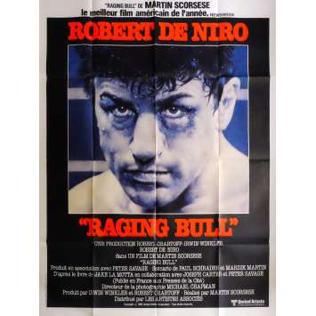 RAGING BULL Movie Poster 47x63 in. French - 1980 - Martin Scorsese, Robert de Niro