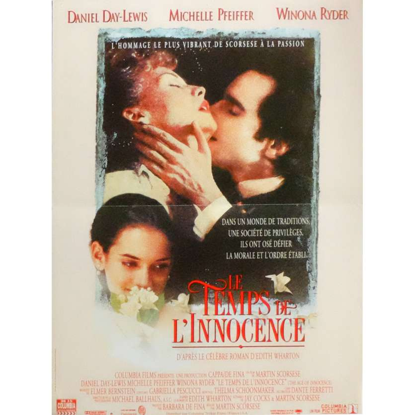 THE AGE OF INNOCENCE Movie Poster 15x21 in. French - 1993 - Martin Scorsese, Daniel Day Lewis