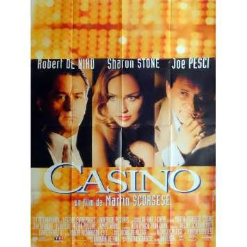 CASINO Movie Poster 47x63 in. French - 1995 - Martin Scorsese, Robert de Niro