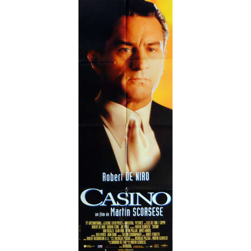 CASINO Movie Poster 23x63 in. French - 1995 - Martin Scorsese, Robert de Niro
