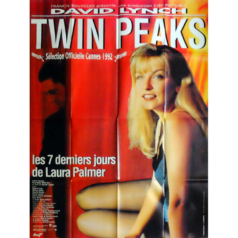 TWIN PEAKS Affiche de film 120x160 cm - 1992 - Sheryl Lee, David Lynch