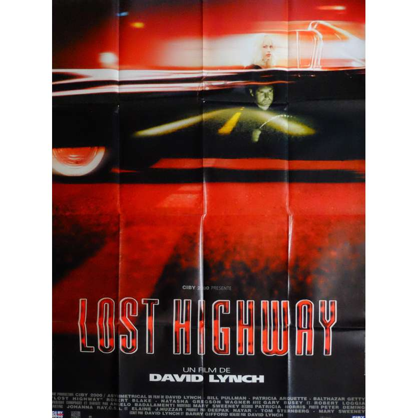 LOST HIGHWAY Affiche de film 120x160 cm - 1997 - Patricia Arquette, David Lynch