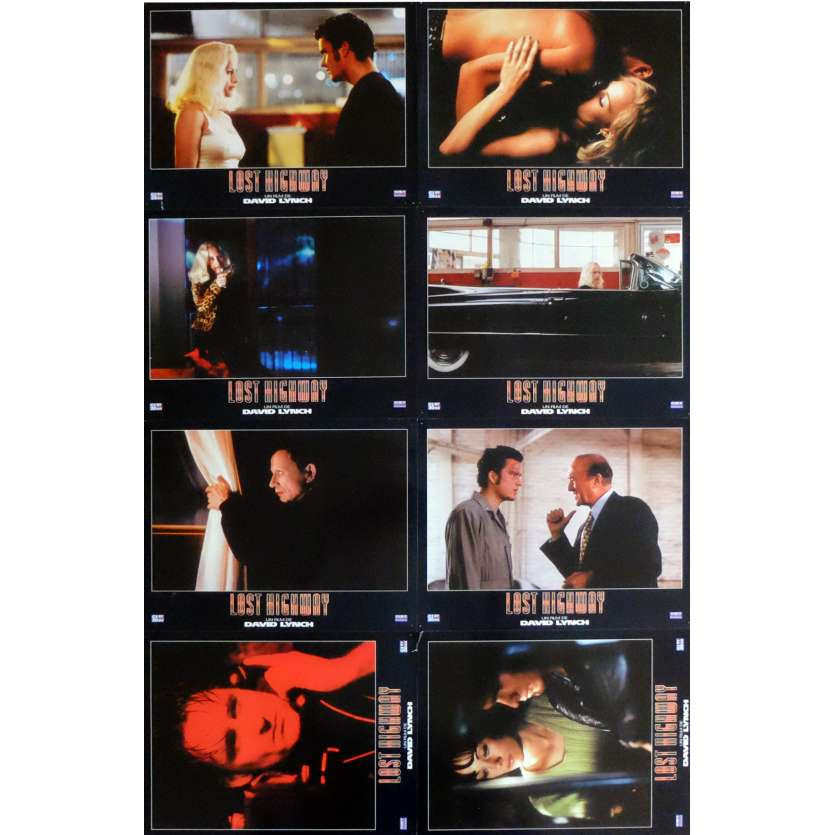 LOST HIGHWAY Lobby Cards x8 9x12 in. French - 1997 - David Lynch, Patricia Arquette