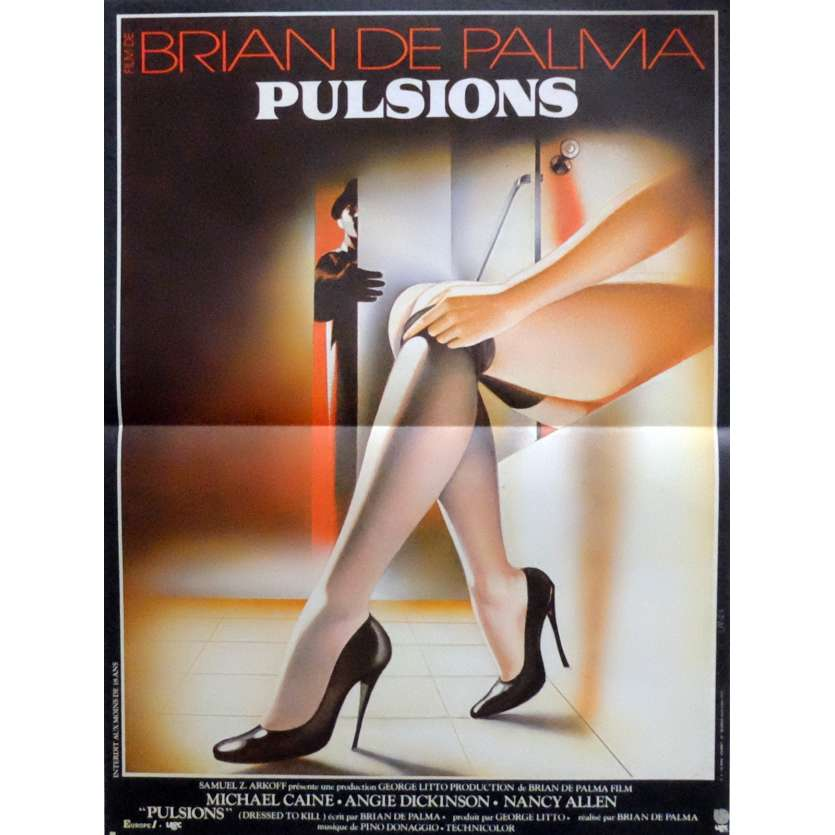 DRESSED TO KILL Movie Poster 15x21 in. French - 1980 - Brian de Palma, Michael Caine