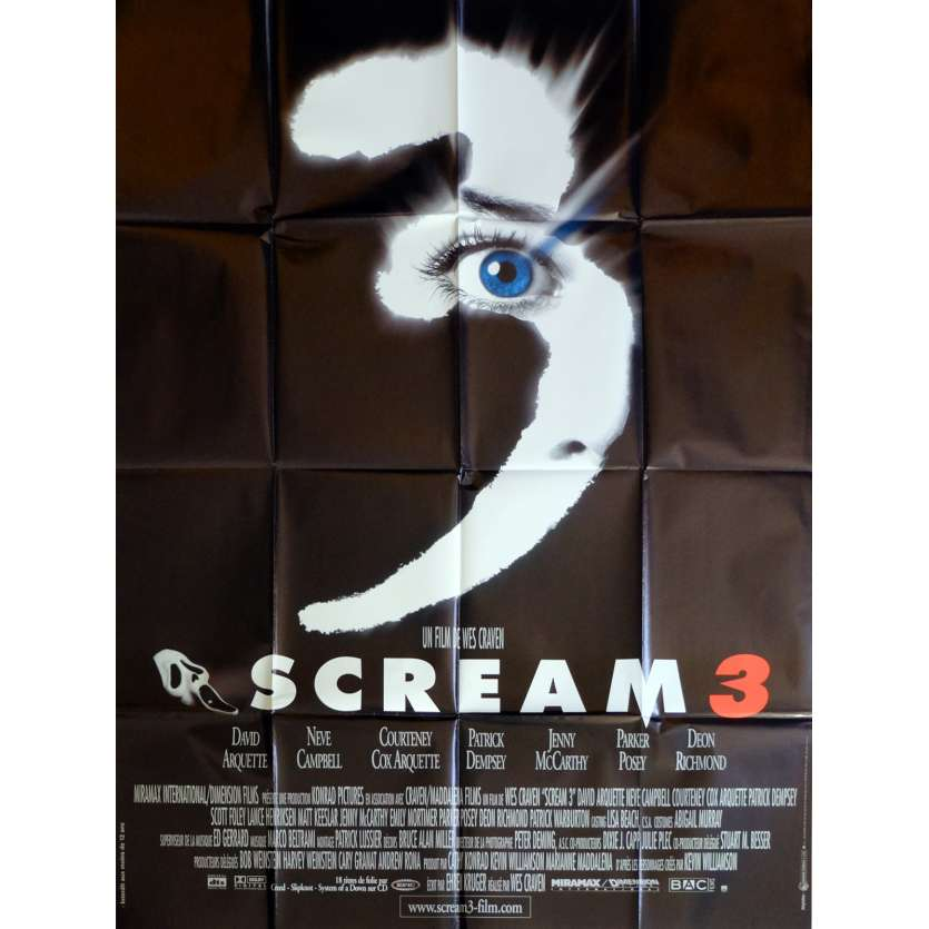 SCREAM 3 Movie Poster 47x63 in. French - 2000 - Wes Craven, Neve Campbell