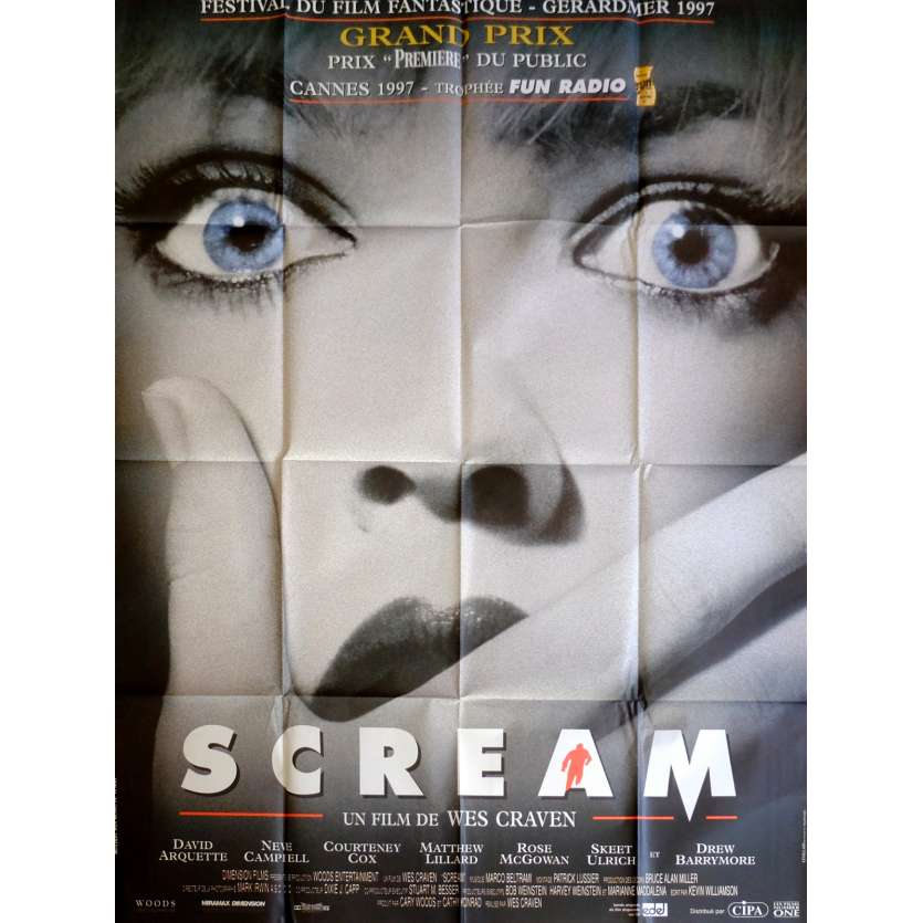 SCREAM Movie Poster 47x63 in. French - 1996 - Wes Craven, Neve Campbell
