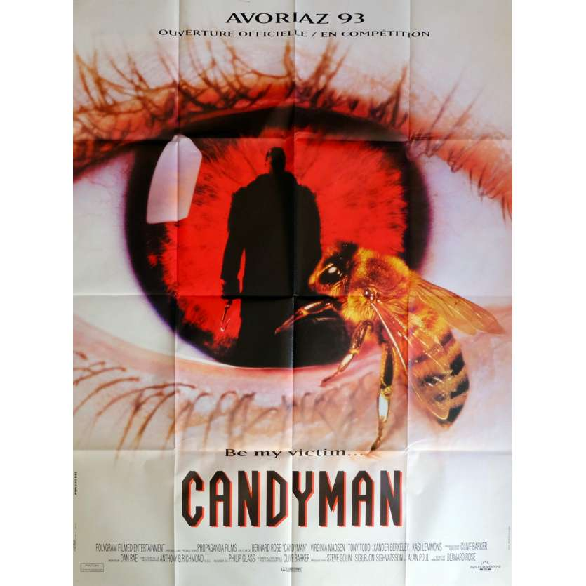 CANDYMAN Movie Poster 47x63 in. French - 1992 - Bernard Rose, Virginia Madsen