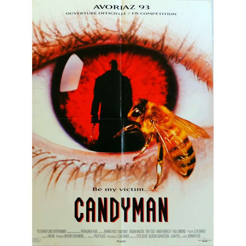 CANDYMAN Movie Poster 15x21 in. French - 1992 - Bernard Rose, Virginia Madsen